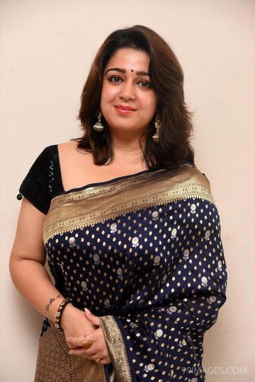 Actress Charmy Kaur latest traditional saree photos HD Quality (1080p)