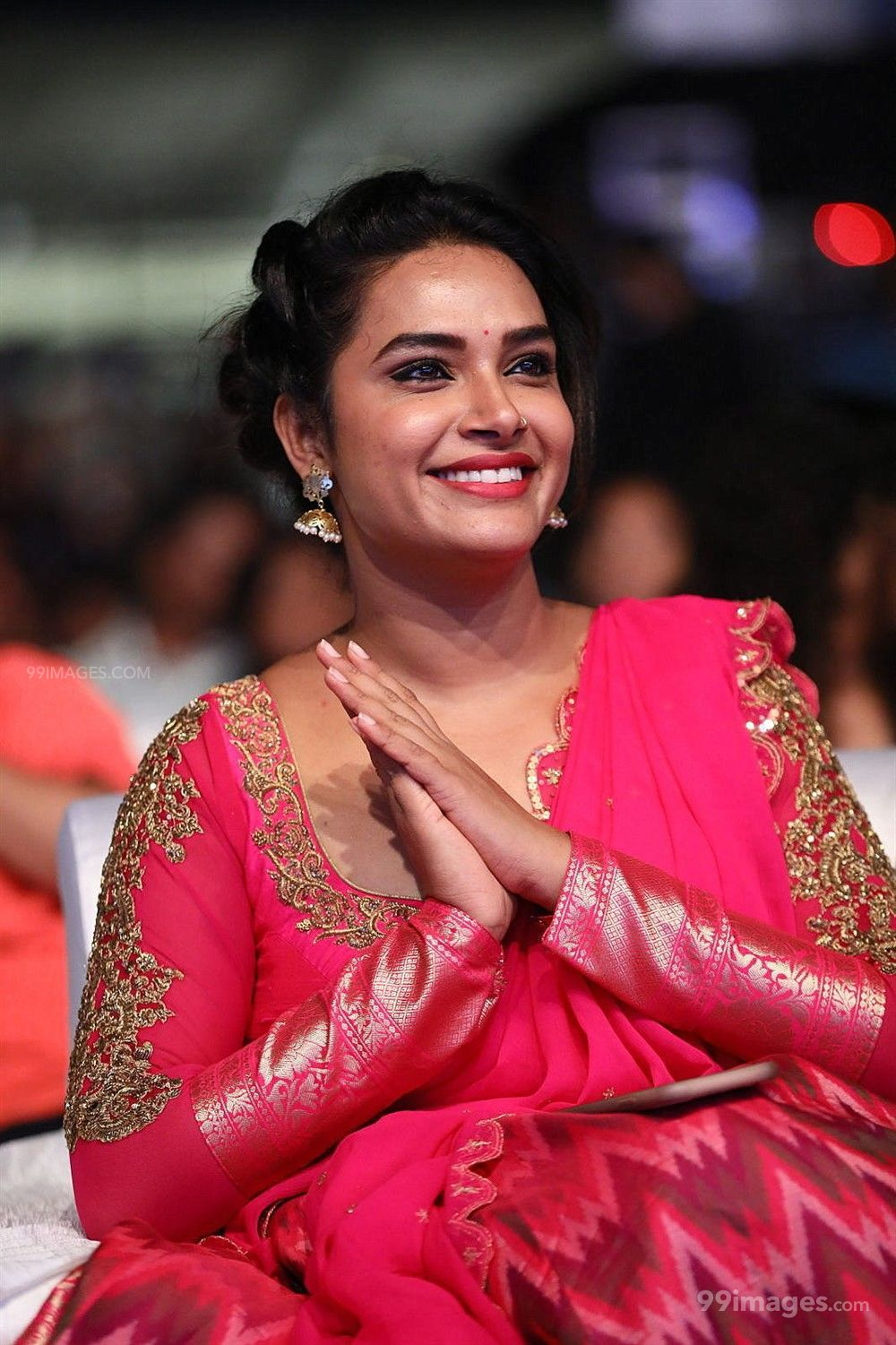 Actress Hari Teja Hot Beautiful HD Photos in Pink Saree at Sarileru Neekevvaru Movie Pre Release Event (219893) - Hari Teja, Sarileru Neekevvaru