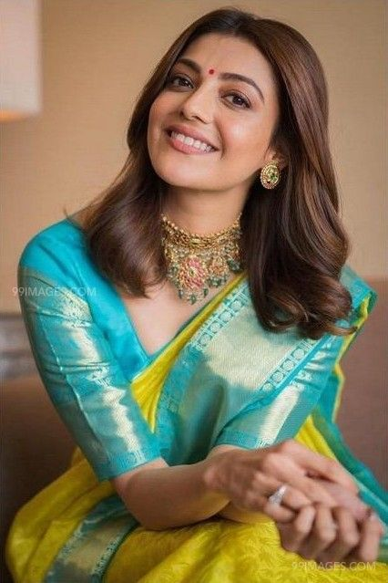 Kajal Agarwals yellow designer saree HD photos (42904) - Kajal Agarwal