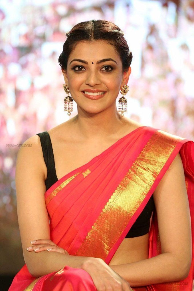 Kajal Agarwals sleeveless red saree hot HD stills (42857) - Kajal Agarwal