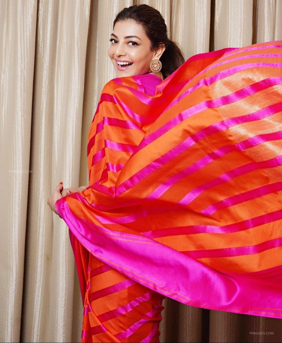 Kajal Agarwal Latest Hot HD Photoshoot Photos / Wallpapers in Saree, WhatsApp DP (1080p) (74884) - Kajal Agarwal