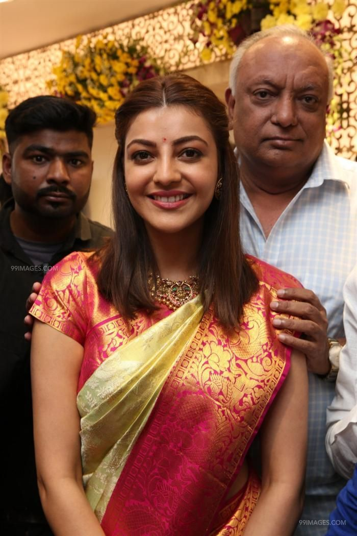 Kajal Agarwals latest beautiful green silk saree HD stills (42905) - Kajal Agarwal