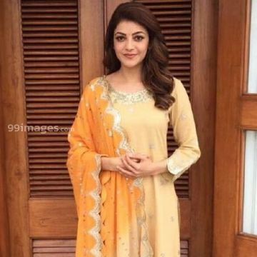 Kajal Agarwals beautiful yellow salwar photos (kajal, kajal agarwal, actress, kollywood, mollywood, tollywood, bollywood, sandalwood)