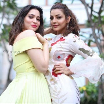 Kajal Agarwals latest cute HD stills with Tamannah