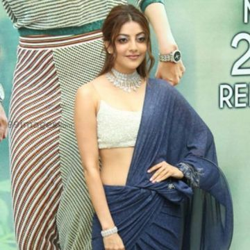Kajal Agarwalss hot blue dress photos in HD Quality (kajal agarwal, actress, kollywood, tollywood, hd wallpapers)
