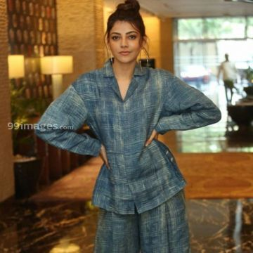 Kajal Agarwalss blue dress photos in HD Quality (kajal agarwal, actress, kollywood, tollywood, hd wallpapers)