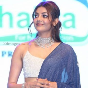 Kajal Agarwalss hot blue dress photos in HD Quality