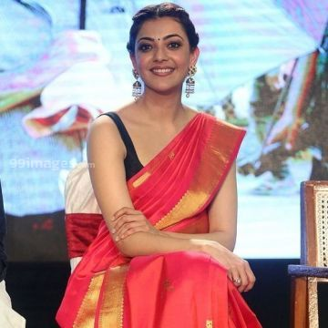 Kajal Agarwals sleeveless red saree hot HD stills (kajal agarwal, kajal, kollywood, tollywood, mollywood, bollywood, actress)
