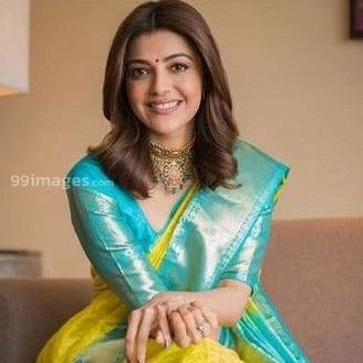 Kajal Agarwals yellow designer saree  HD photos