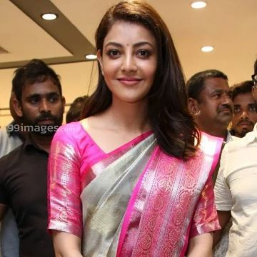 Kajal Agarwals pink silk saree stills in HD (1080p) (kajal agarwal, kajal, kollywood, tollywood, mollywood, bollywood, actress)