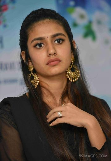 Priya Prakash Varriers latest HD images (1080p) in Vishnupriya film Press meet