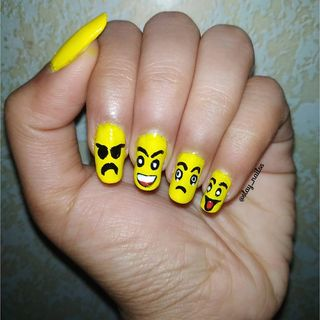 Simple Yellow Cute Easy Nail Designs  (#130285)