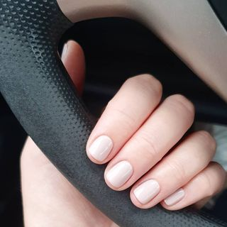 Short Red Spring Nude Nail Designs  (#137225)