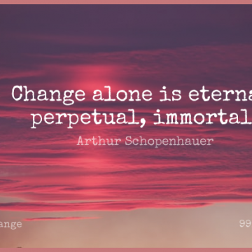 Short Change Quote by Arthur Schopenhauer about Growth,Eternal Love,Eternity for WhatsApp DP / Status, Instagram Story, Facebook Post.