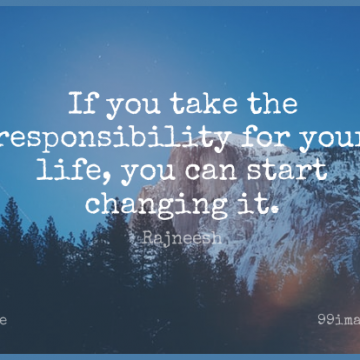 Short Change Quote by Rajneesh about Responsibility,Compromise,Ifs for WhatsApp DP / Status, Instagram Story, Facebook Post.