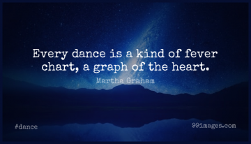 Short Dance Quote by Martha Graham about Inspirational,Heart,Dancing for WhatsApp DP / Status, Instagram Story, Facebook Post.