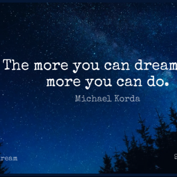 Short Dream Quote by Michael Korda about Motivational,Success,Inspirational Life for WhatsApp DP / Status, Instagram Story, Facebook Post.