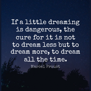 Short Dream Quote by Marcel Proust about Love,Inspiring,Littles for WhatsApp DP / Status, Instagram Story, Facebook Post.