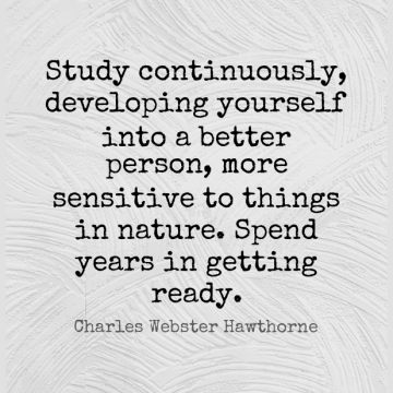 Short Education Quote by Charles Webster Hawthorne about Years,Study,Sensitive for WhatsApp DP / Status, Instagram Story, Facebook Post.