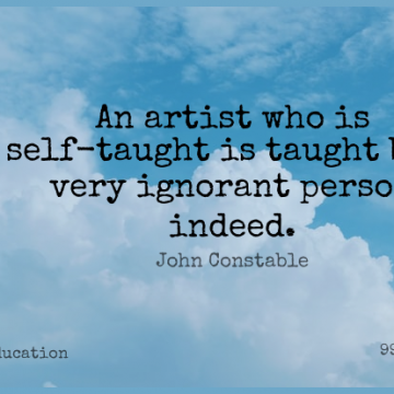 Short Education Quote by John Constable about Artist,Self,Ignorant for WhatsApp DP / Status, Instagram Story, Facebook Post.