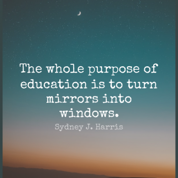 Short Education Quote by Sydney J. Harris about Graduation,Wall,Learning for WhatsApp DP / Status, Instagram Story, Facebook Post.