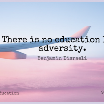 Short Education Quote by Benjamin Disraeli about Teacher,Motivation,Adversity for WhatsApp DP / Status, Instagram Story, Facebook Post.