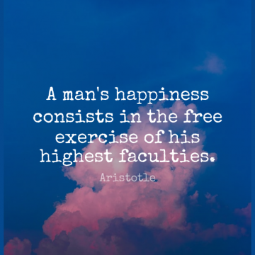 Short Freedom Quote by Aristotle about Exercise,Men,Faculty for WhatsApp DP / Status, Instagram Story, Facebook Post.