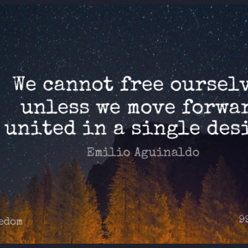 Short Freedom Quote by Emilio Aguinaldo about Inspirational,Single,Moving for WhatsApp DP / Status, Instagram Story, Facebook Post.