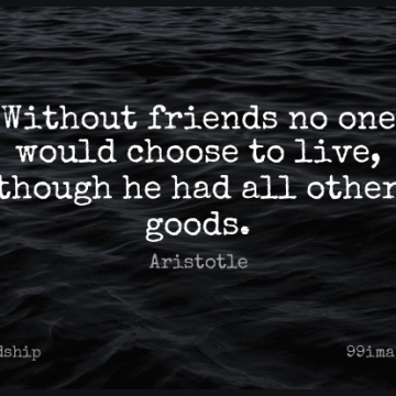Short Friendship Quote by Aristotle about Inspirational,Philosophical,Real Friends for WhatsApp DP / Status, Instagram Story, Facebook Post.