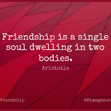 Short Friendship Quote by Aristotle about Inspirational,Best Friend,Positive for WhatsApp DP / Status, Instagram Story, Facebook Post.