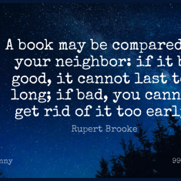 Short Funny Quote by Rupert Brooke about Book,Reading,Long for WhatsApp DP / Status, Instagram Story, Facebook Post.