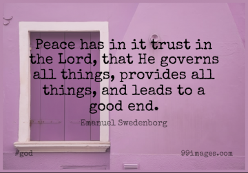 Short God Quote by Emanuel Swedenborg about Trust,Faith,Christian for WhatsApp DP / Status, Instagram Story, Facebook Post.