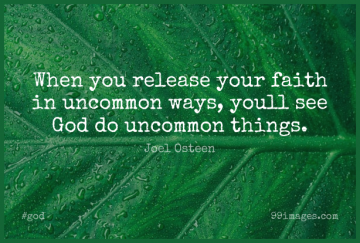 Short God Quote by Joel Osteen about Faith,Christian,Jesus for WhatsApp DP / Status, Instagram Story, Facebook Post.