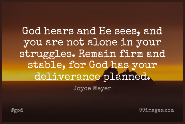 Short God Quote by Joyce Meyer about Encouraging,Christian,Religious for WhatsApp DP / Status, Instagram Story, Facebook Post. (503591) - God Quotes