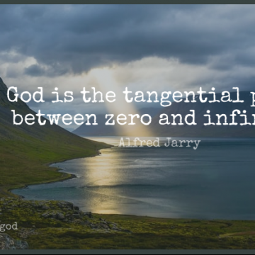 Short God Quote by Alfred Jarry about Zero,Humorous,Religion for WhatsApp DP / Status, Instagram Story, Facebook Post.