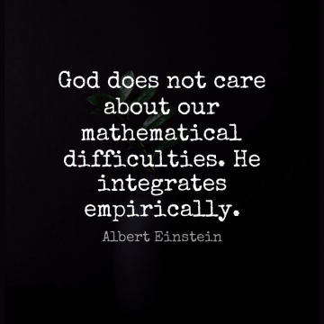 Short God Quote by Albert Einstein about Motivational,Math,Doe for WhatsApp DP / Status, Instagram Story, Facebook Post.