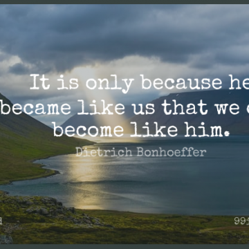 Short God Quote by Dietrich Bonhoeffer about Christian,Spiritual Wisdom,Discipleship for WhatsApp DP / Status, Instagram Story, Facebook Post.