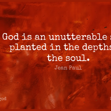 Short God Quote by Jean Paul about Soul,Depth,Literature for WhatsApp DP / Status, Instagram Story, Facebook Post.
