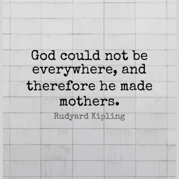 Short God Quote by Rudyard Kipling about Mothers Day,Christian,Mom for WhatsApp DP / Status, Instagram Story, Facebook Post.