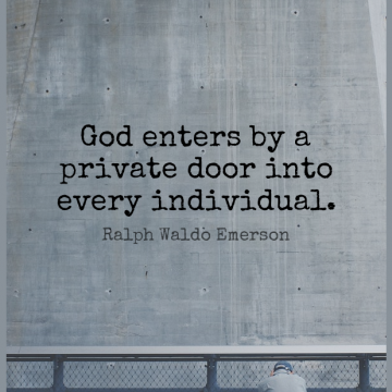 Short God Quote by Ralph Waldo Emerson about Faith,Religious,Doors for WhatsApp DP / Status, Instagram Story, Facebook Post.