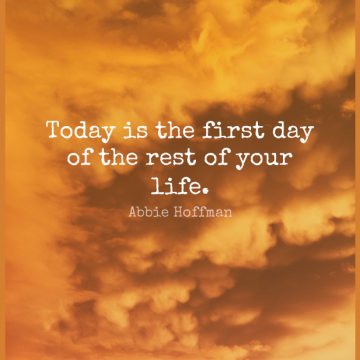 Short Good Morning Quote by Abbie Hoffman about Inspirational,Life,Motivational for WhatsApp DP / Status, Instagram Story, Facebook Post.