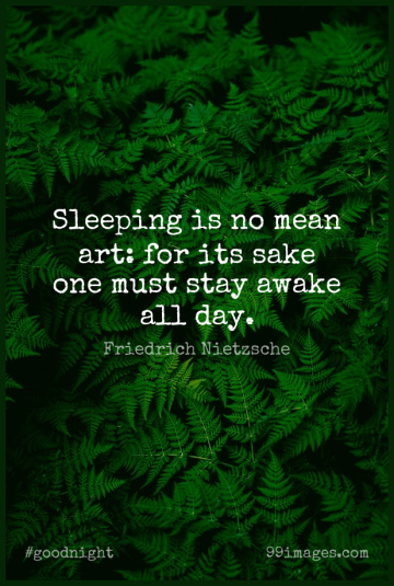 Short Good Night Quote by Friedrich Nietzsche about Dream,Art,Mean for WhatsApp DP / Status, Instagram Story, Facebook Post.