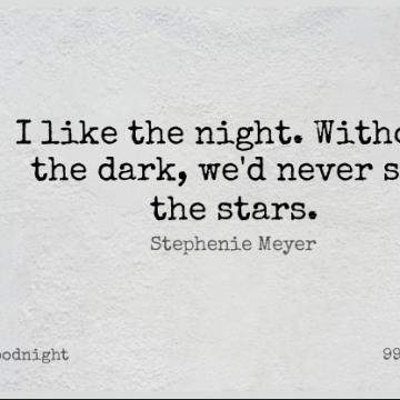 Short Good Night Quote by Stephenie Meyer about Life,Beauty,Beautiful for WhatsApp DP / Status, Instagram Story, Facebook Post.
