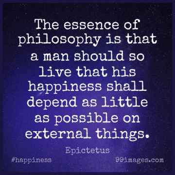 Short Happiness Quote by Epictetus about Inspirational,Happy,Philosophy for WhatsApp DP / Status, Instagram Story, Facebook Post.