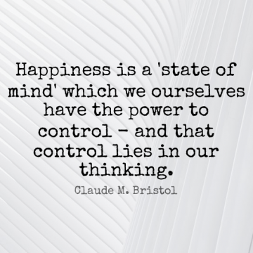 Short Happiness Quote by Claude M. Bristol about Lying,Thinking,Mind for WhatsApp DP / Status, Instagram Story, Facebook Post.