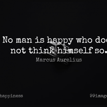Short Happiness Quote by Marcus Aurelius about Inspirational,Success,Happy for WhatsApp DP / Status, Instagram Story, Facebook Post.