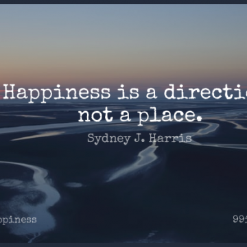 Short Happiness Quote by Sydney J. Harris about Happy,Being Happy,True Happiness for WhatsApp DP / Status, Instagram Story, Facebook Post.