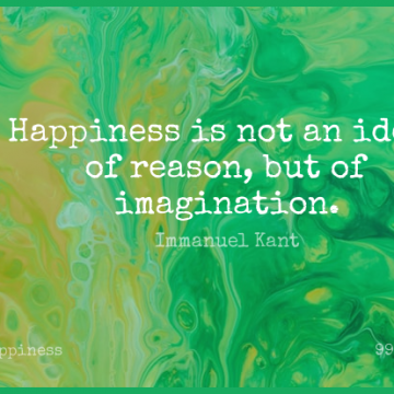Short Happiness Quote by Immanuel Kant about Happy,Laughter,Philosophical for WhatsApp DP / Status, Instagram Story, Facebook Post.