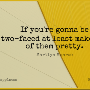 Short Happiness Quote by Marilyn Monroe about Love,Funny,Life for WhatsApp DP / Status, Instagram Story, Facebook Post.