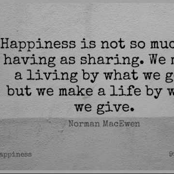 Short Happiness Quote by Norman MacEwen about Inspirational,Life,Math for WhatsApp DP / Status, Instagram Story, Facebook Post.